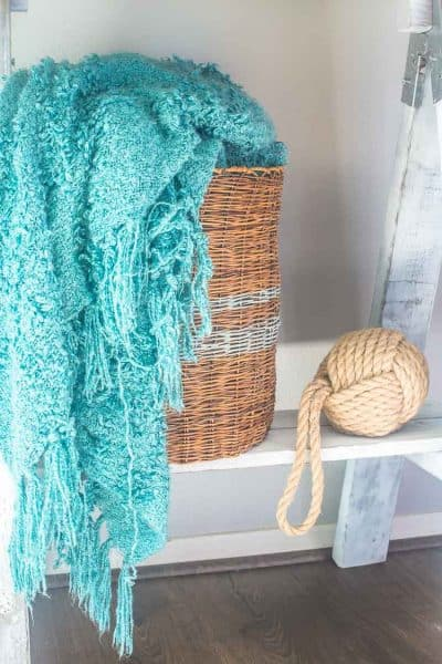 DIY Gray Striped Storage Basket