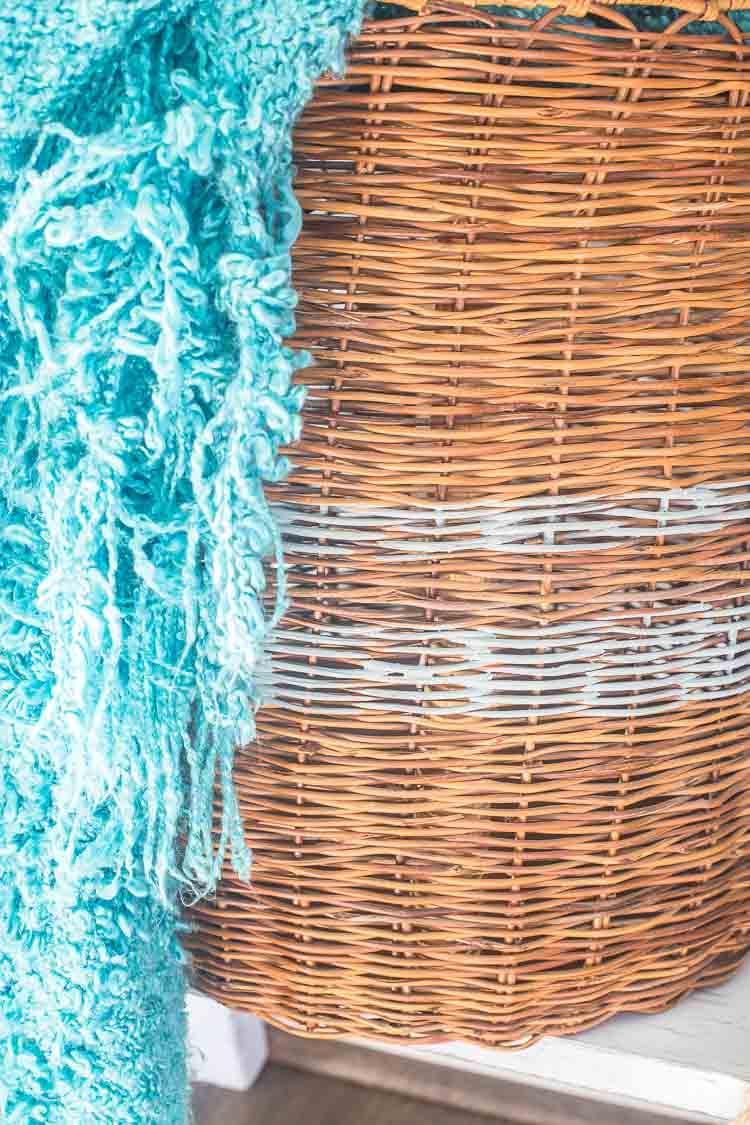 Easy to Make Gray Striped Storage Basket