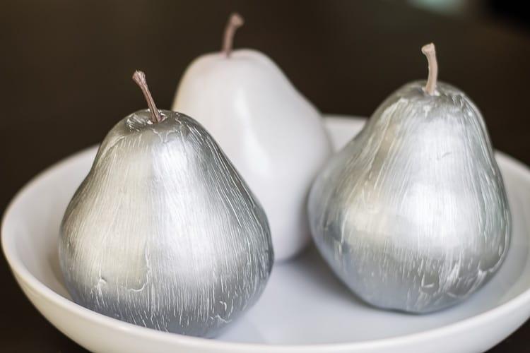 Paint Crackle Effect on Dollar Store Plastic Fruit
