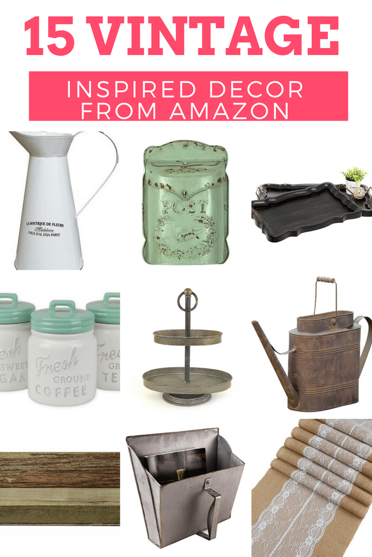 Vintage Inspired Decor | Farmhouse Style | Retro Home Items all from Amazon