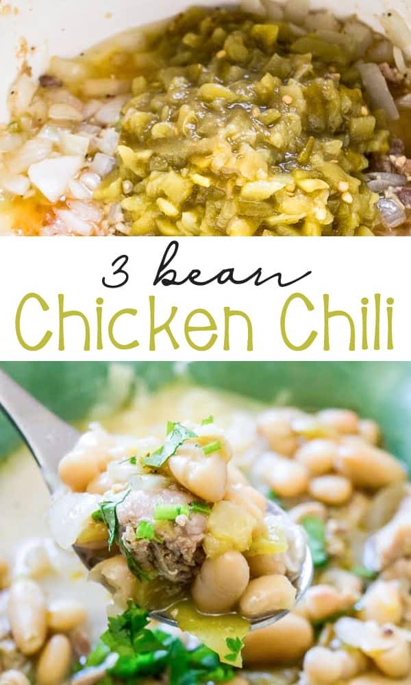 3 Bean Chicken Chili