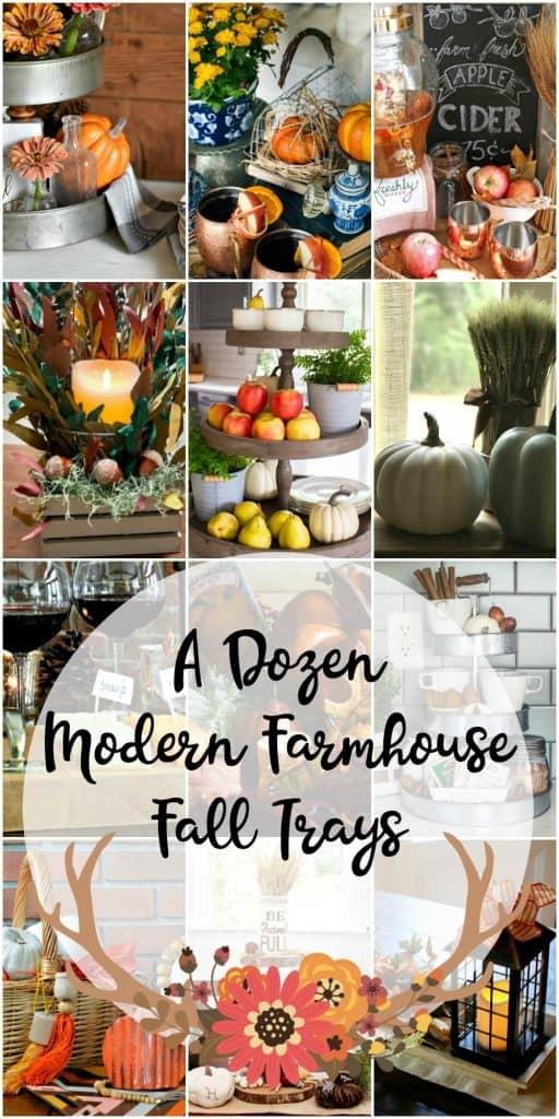 12 Farmhouse Trays | Modern Farmhouse Tray | Farmhouse Fall Decor