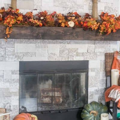 Bountiful Autumn Mantel