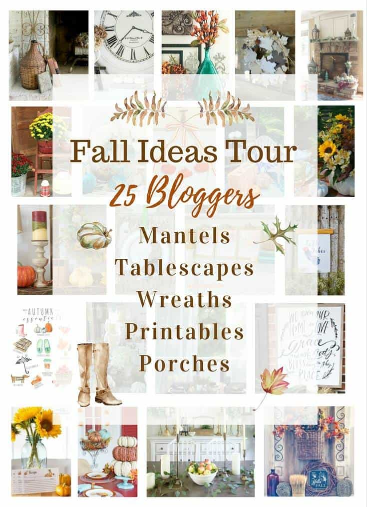 Fall Ideas Tour with Mantels, Tablescapes, Wreaths, Printables and Porches