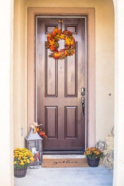 Creating a Rustic Industrial Autumn Porch