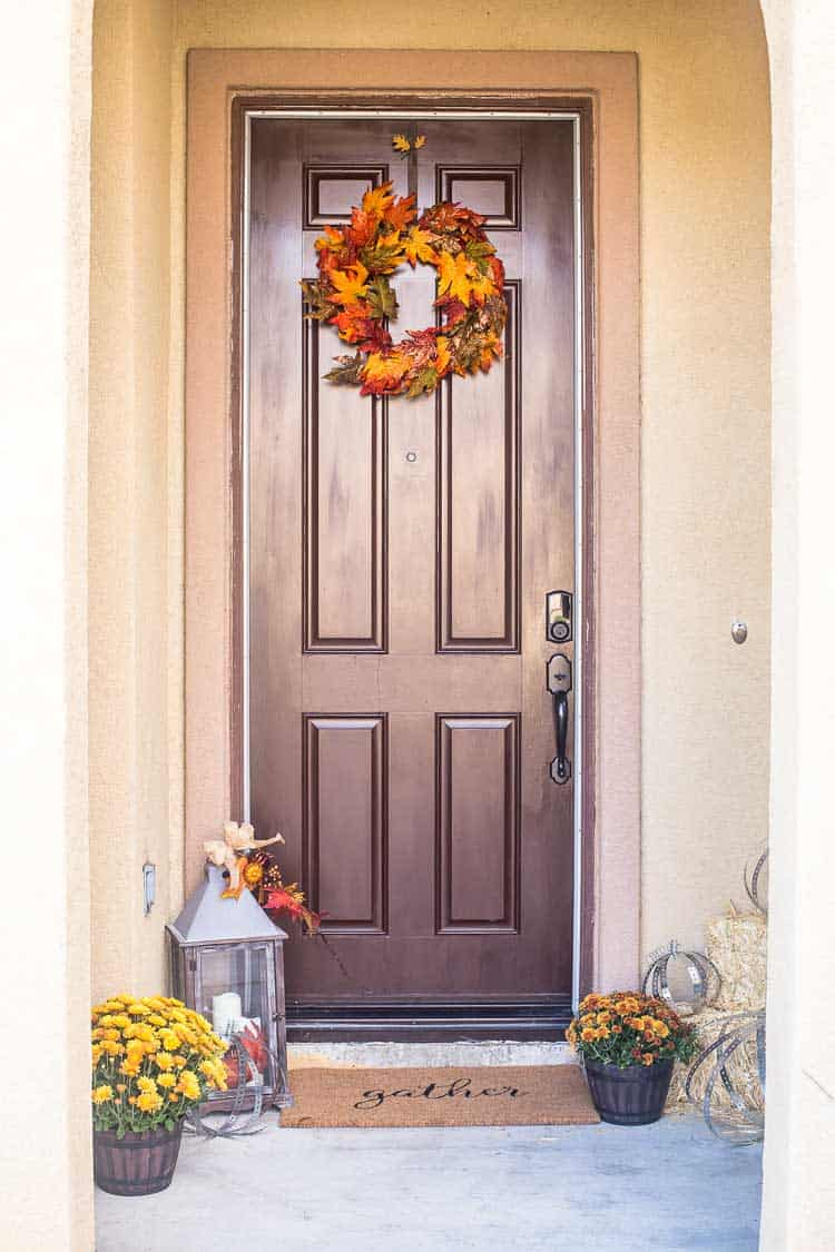 Creating a rustic industrial autumn porch domestically for Rustic front porch
