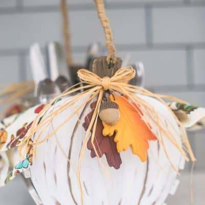 Thrift Store Pumpkin Basket Gets a Makeover