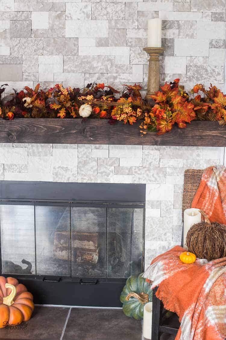 build your own rustic fireplace mantel domestically speaking