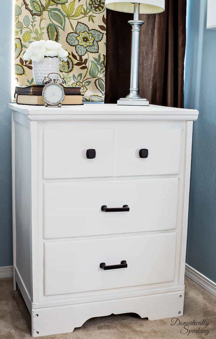 How To Turn A Desk Into A Nightstand Domestically Speaking
