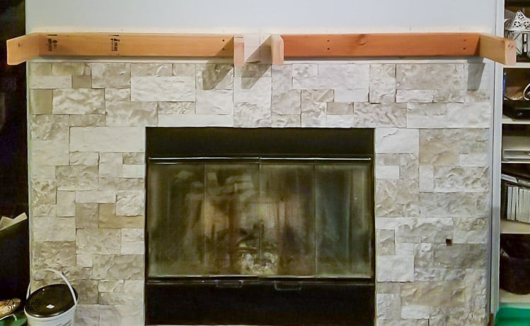 Learn how to make your own DIY Rustic Fireplace Mantel | Easy Wood Mantel | #diy #fireplace #mantel