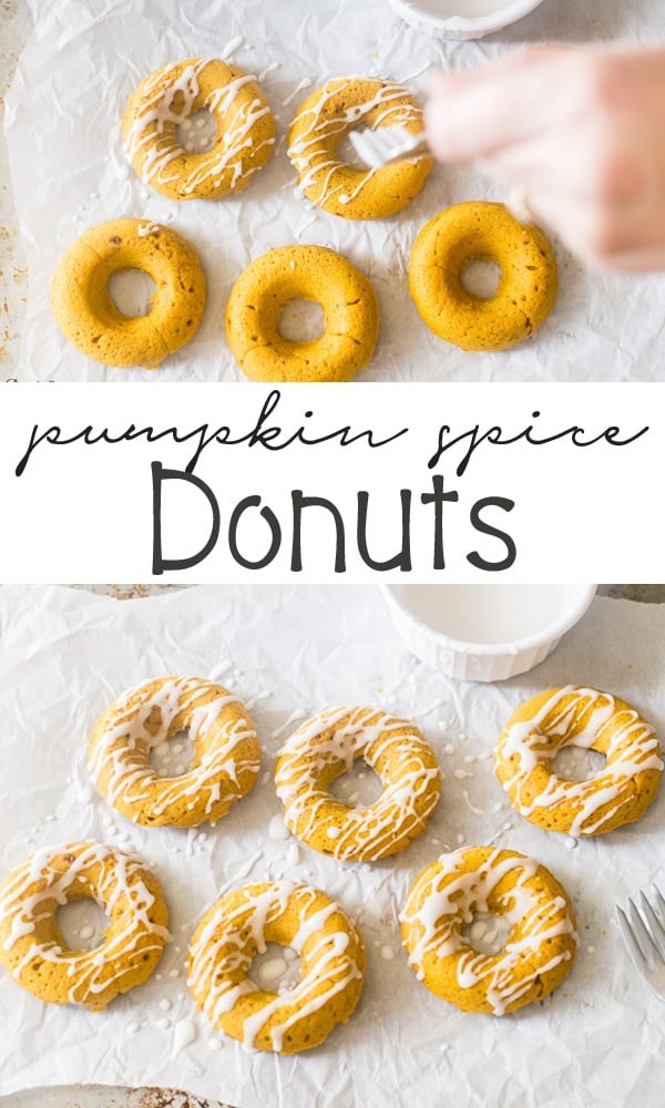 Pumpkin Spice Donuts perfect for Fall Baking. These donuts are easy to make and baked in the oven.
