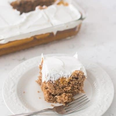 Easy Pumpkin Spice Poke Cake
