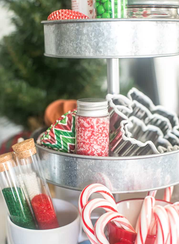 Christmas Cookie Decorating Farmhouse Tray