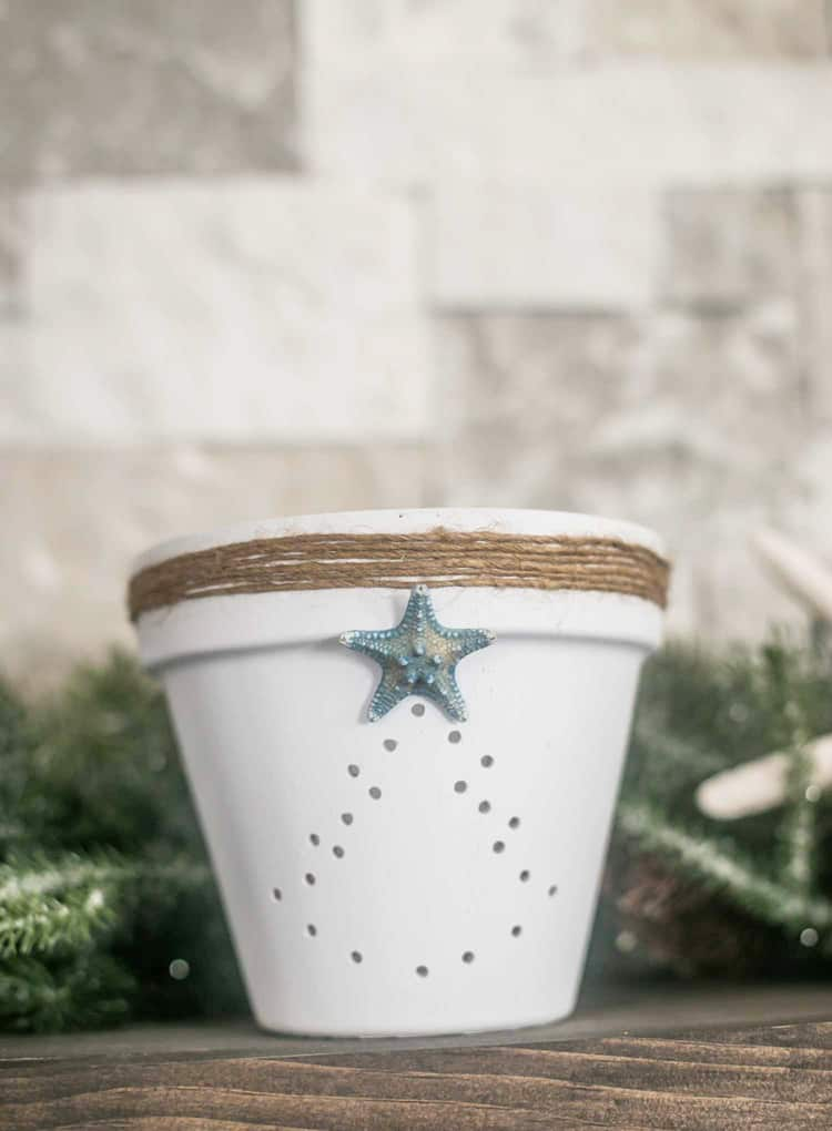 Coastal Terra Cotta Christmas Lantern
