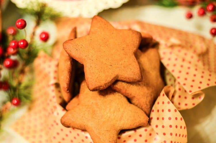 Ginger Cut Out Cookies in a star shape