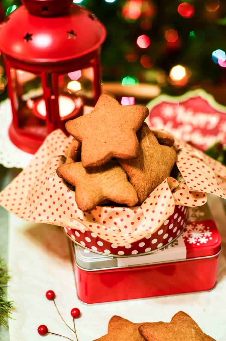 Ginger Cut Out Cookies for Christmas