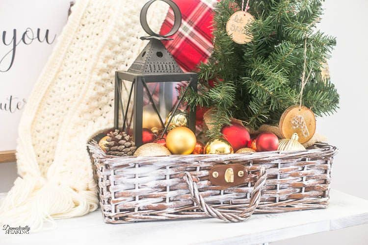 Thrift Store Painted Christmas Decor Basket | Thrift Store Makeover | Paint DIY