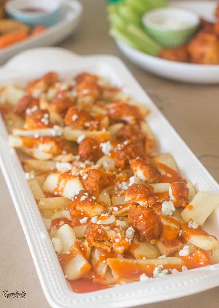 Buffalo Hot Wings Fries   A great football appetizer