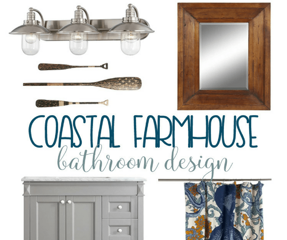 Coastal Farmhouse Bathroom Design Domestically Speaking