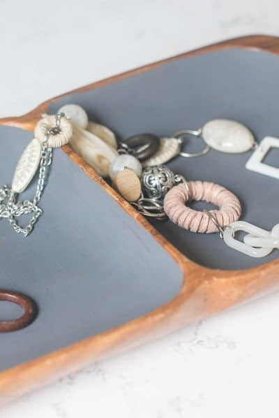 Thrift Store Jewelry Tray Makeover