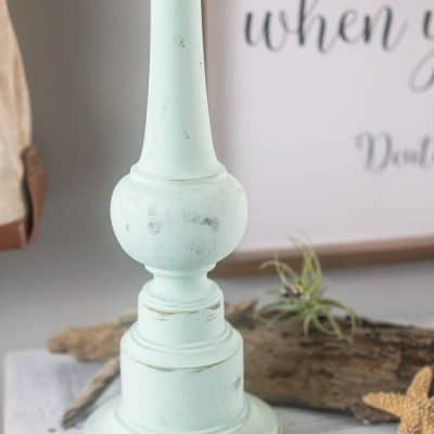 DIY Milk Paint Wood Lamp