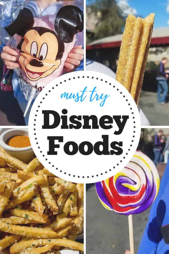 Must Try Disney Foods!!!  If you're heading to Disneyland this is a foodies list of snacks, meals and more that you'll want to try at the Magic Kingdom!