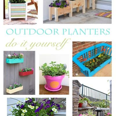 DIY Outdoor Planters You'll Love