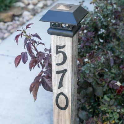 DIY Solar Address Post