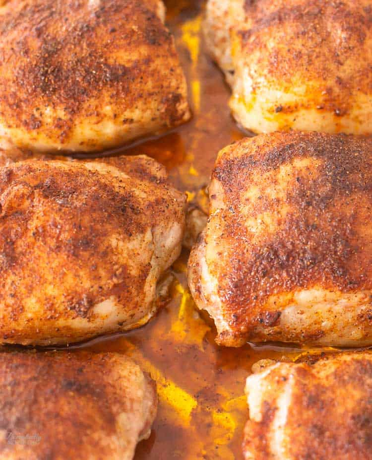 Easy Spicy Chicken Rub that is great on baked chicken!!! Super easy to put together. I make a big batch and have it ready whenever I need it!