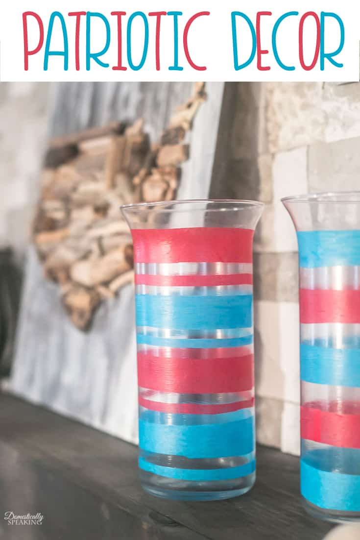 Easy Patriotic Decor using items from a thrift store of dollar store