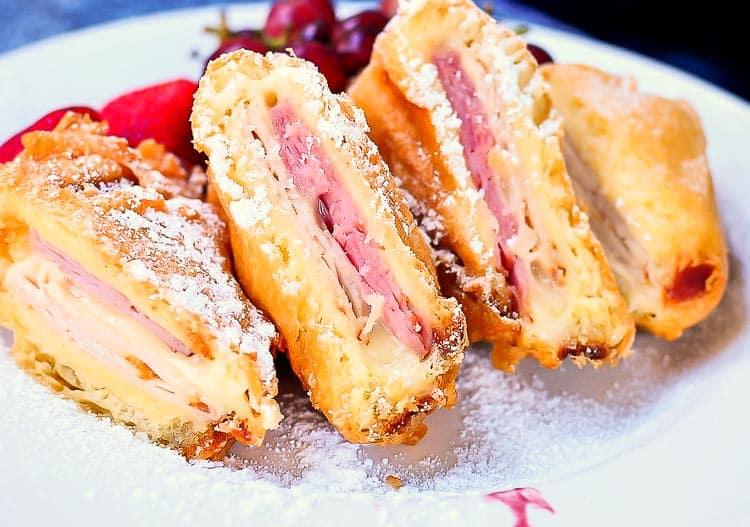 Three Cheese Monte Cristo Sandwich at Disneyland - Must Try Disney Foods!!!