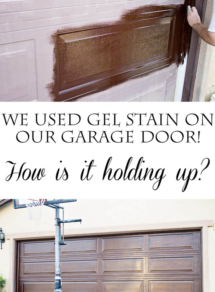 DIY Gel Stain Garage Door Update
