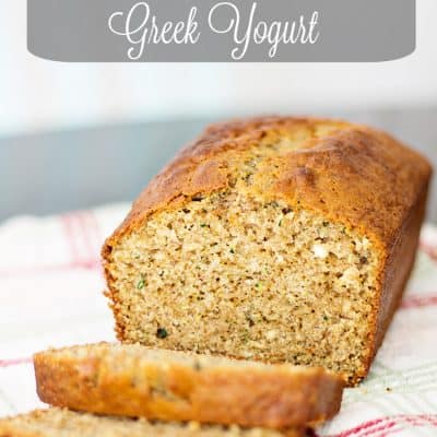 Spiced Zucchini Bread with Greek Yogurt