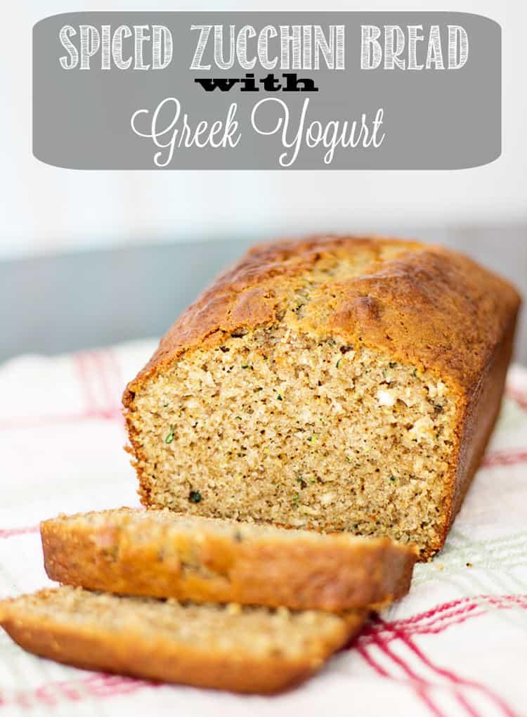 Spiced Zucchini Bread with Greek Yogurt