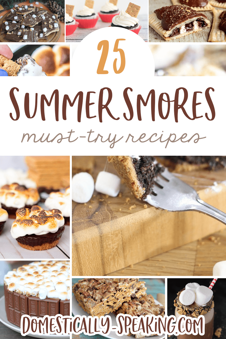 25 Summer Smore Recipes that you'll want to enjoy during the summer and throughout the year.  Great cakes, bars, tarts and more!