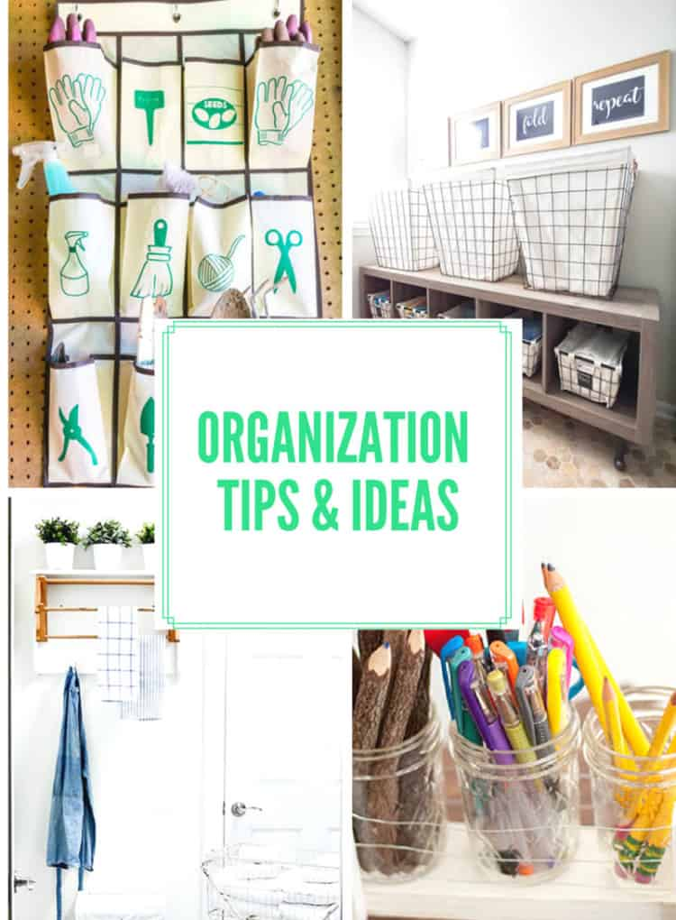 Organization Tips and Ideas at Inspire Me Monday #227