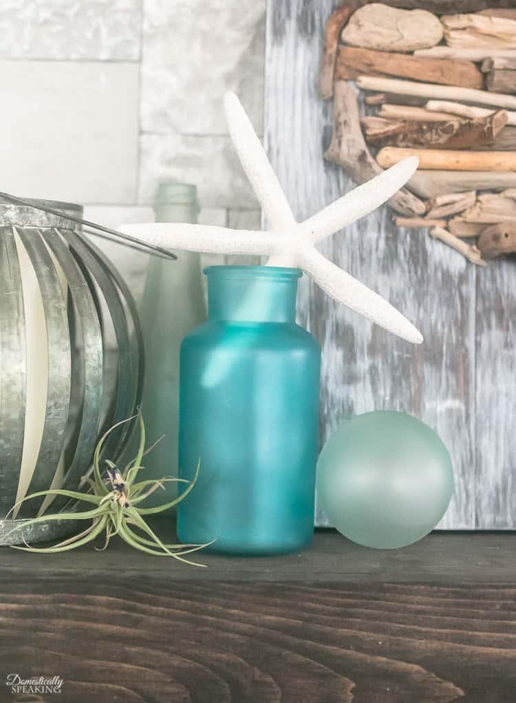 Beachy DIY Sea Glass Decor