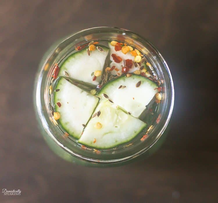 Easy Refrigerator Spicy Pickles Recipe