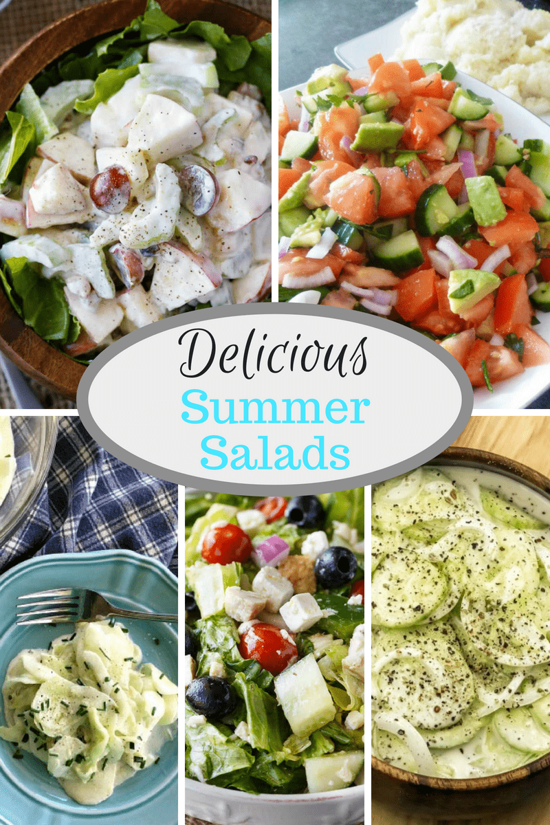 Summer Salads At Inspire Me Monday #226