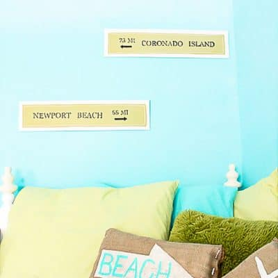 Pottery Barn'ish Beach Signs