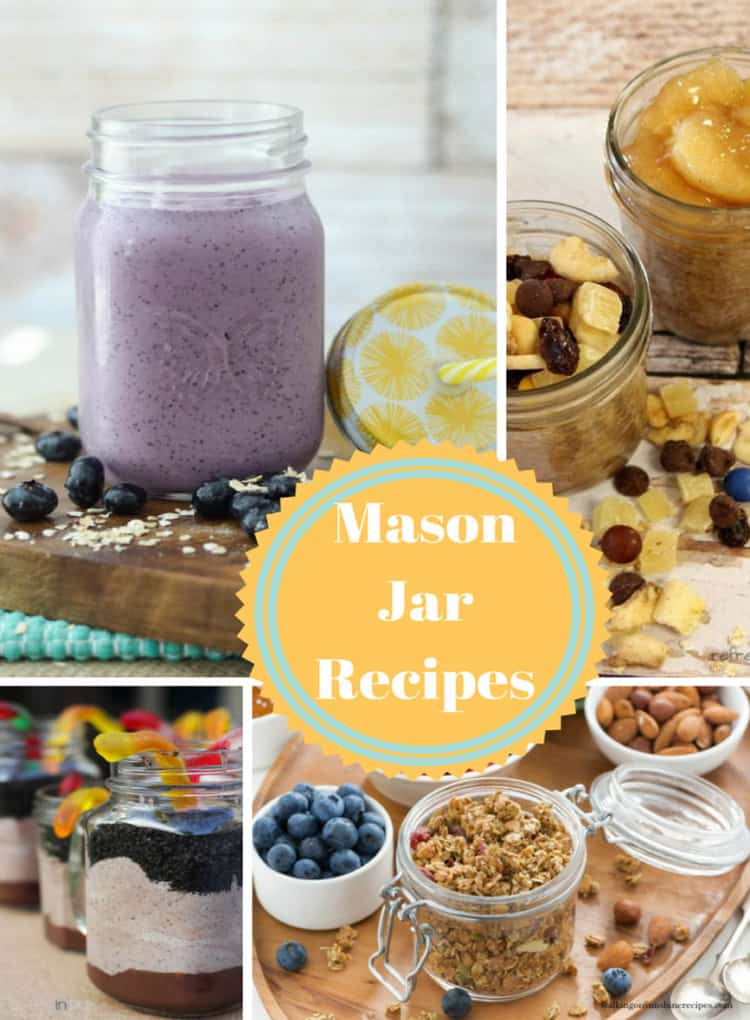 Mason Jar Recipes at Inspire Me Monday #230