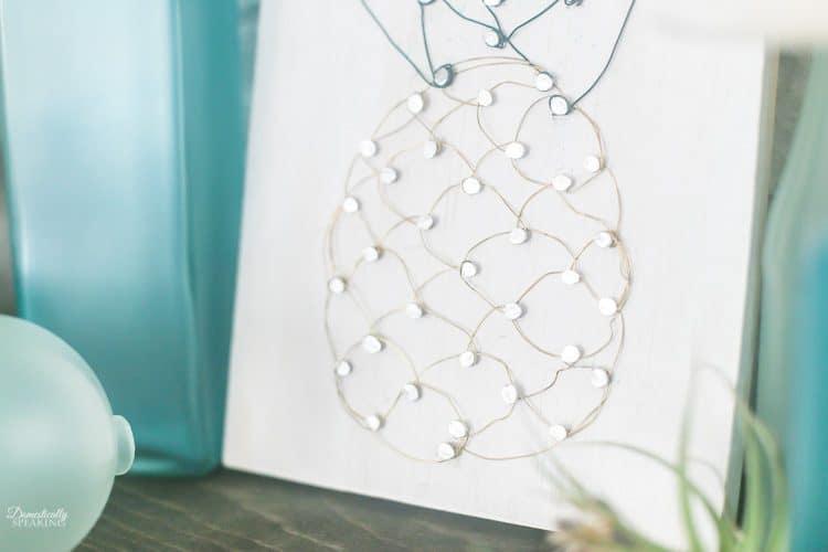 DIY Pineapple Wire Art