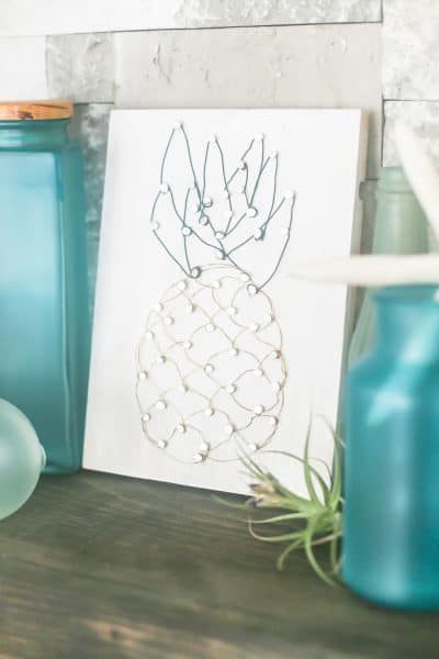 DIY Pineapple Wire Art Craft