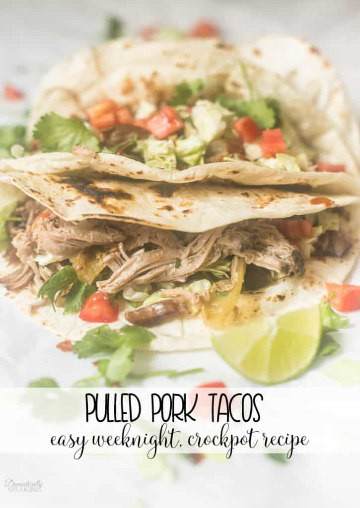 Pulled Pork Taco Recipes an easy weeknight dinner using your crockpot!