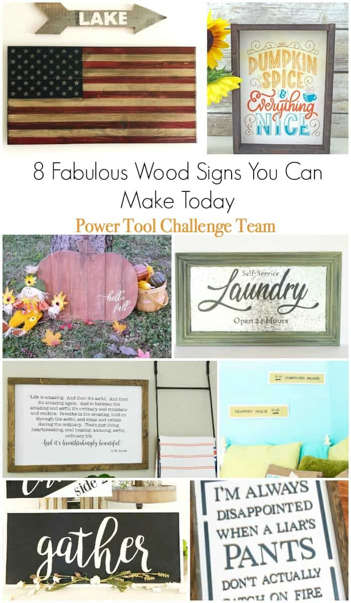 8 Wood Signs you can Make - with FULL tutorials!!!