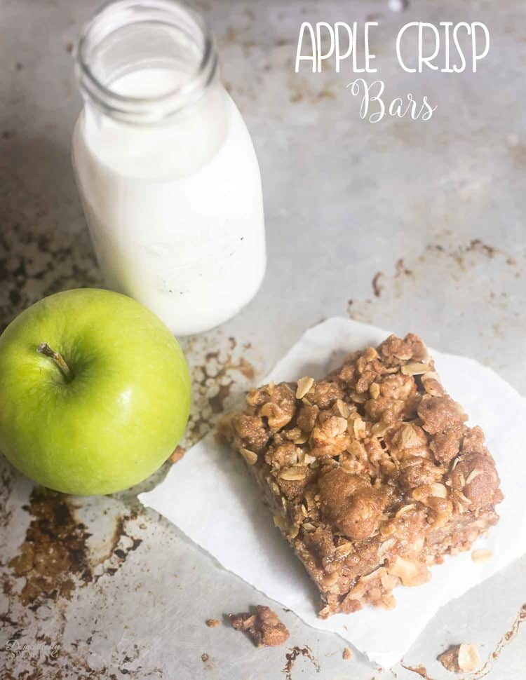 Easy Homemade Apple Crisp Bars are loaded with that crumble you love!!! Both the crust and topping are made with that favorite crumble topping.