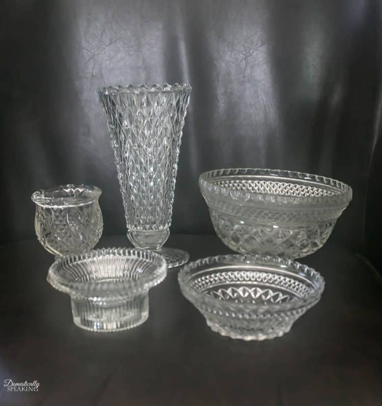 thrift store glass pieces - How To Make Mercury Glass