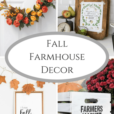 Fall Farmhouse Decor at Inspire Me Monday #232