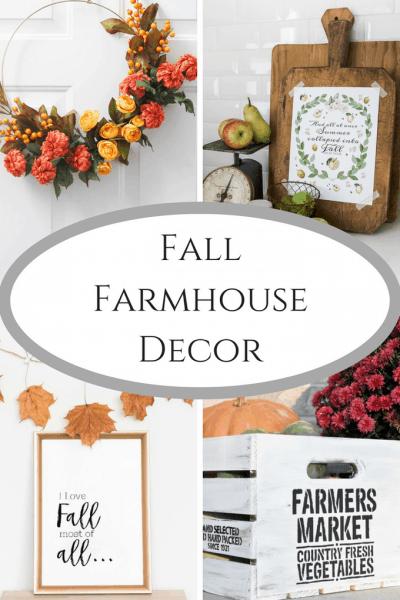 Fall Farmhouse Decor at Inspire Me Monday #232