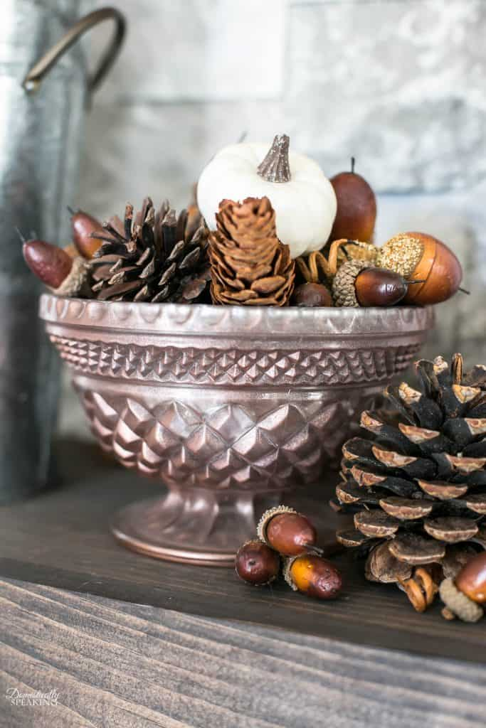 DIY Mercury Glass in Burgundy and Copper - learn how to make your own - perfect for fall decor!